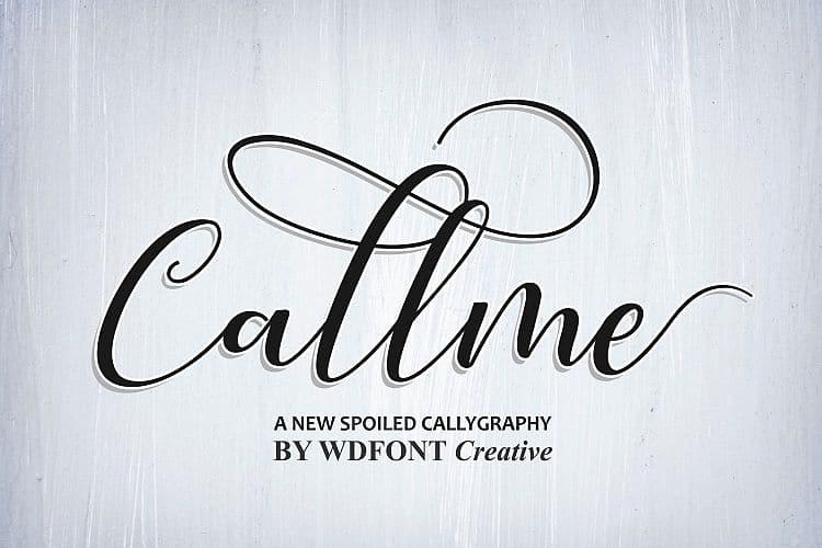 Download Callme font (typeface)