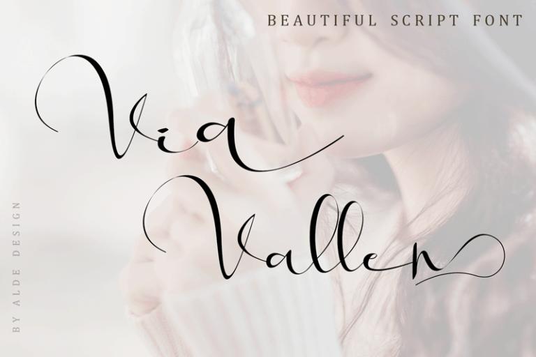 Download Via Vallen font (typeface)
