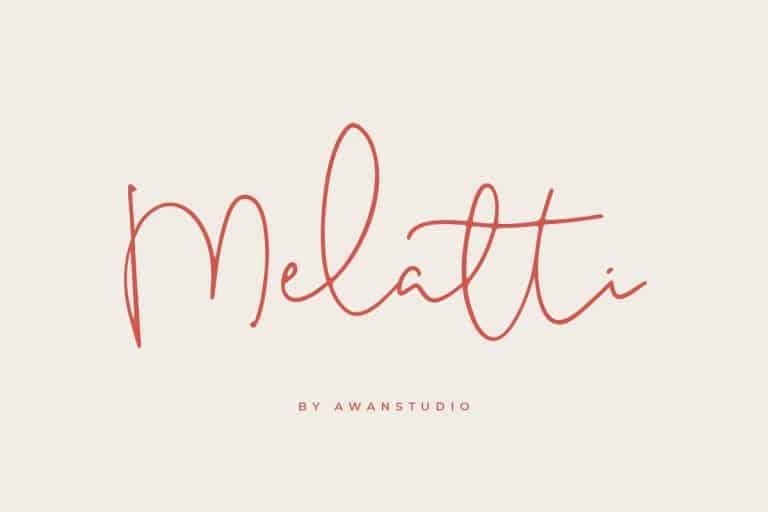 Download Melatti font (typeface)