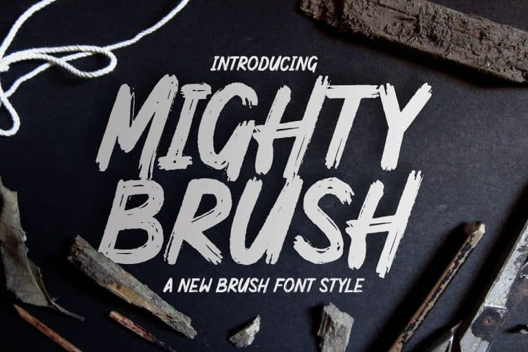 Download Mighty Brush font (typeface)