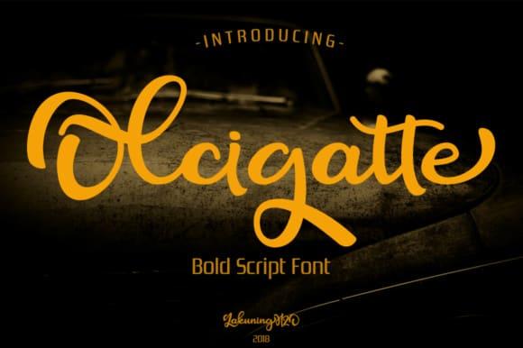 Download Olcigatte font (typeface)