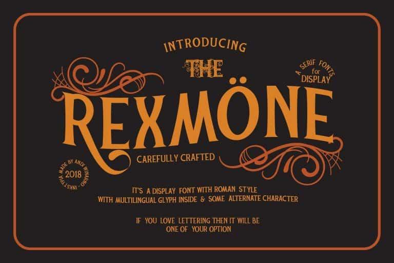 Download Rexmone font (typeface)