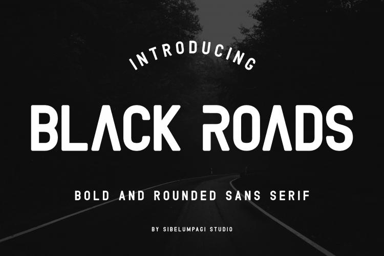 Download Black Roads font (typeface)