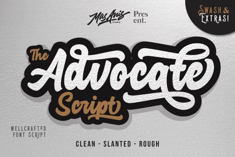 Download Advocate font (typeface)