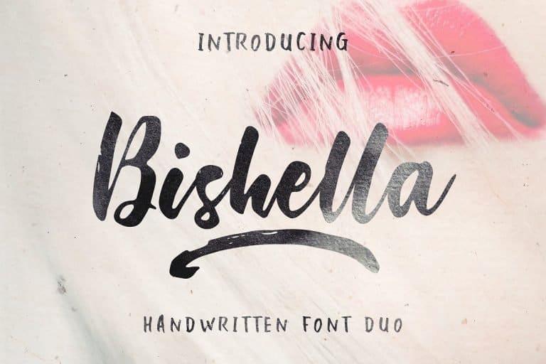 Download Bishella font (typeface)