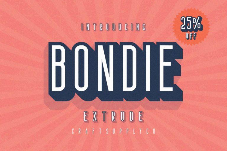 Download Bondie Extrude font (typeface)