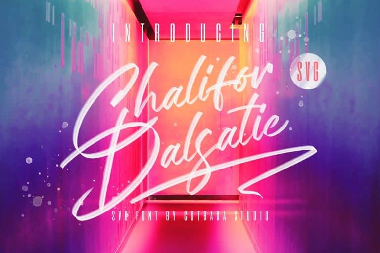 Download Chalifor Dalsatic font (typeface)