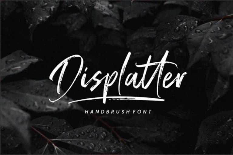 Download Displatter font (typeface)