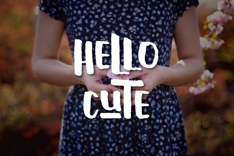 Download Hello Cute font (typeface)