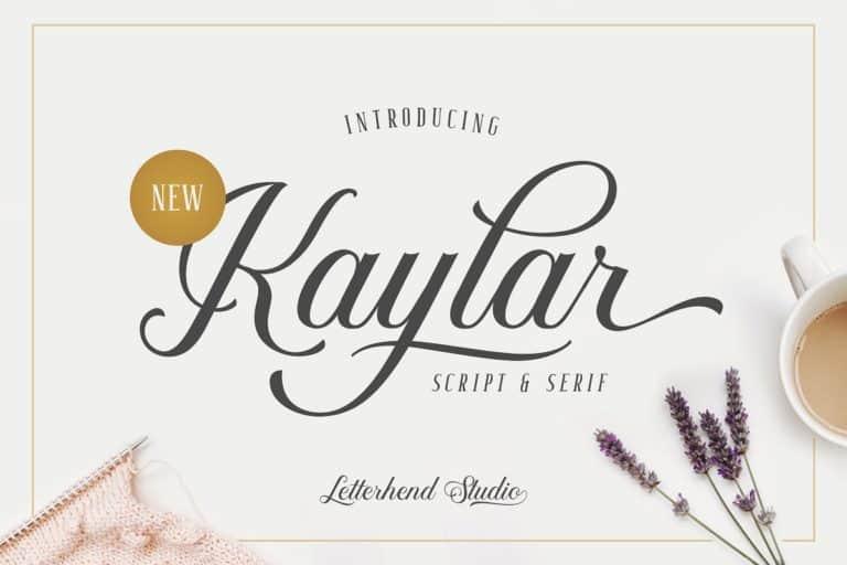 Download Kaylar font (typeface)