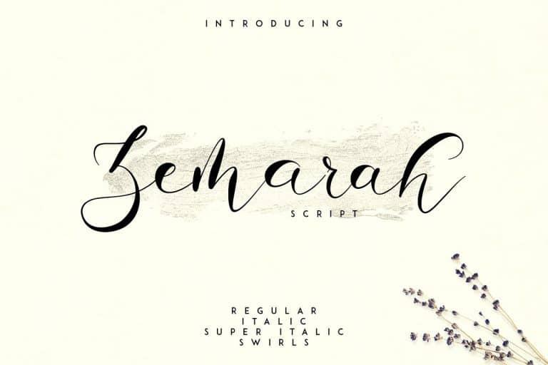 Download Zemarah font (typeface)