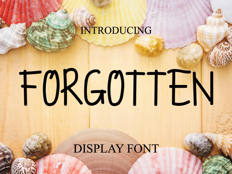 Download Forgotten font (typeface)