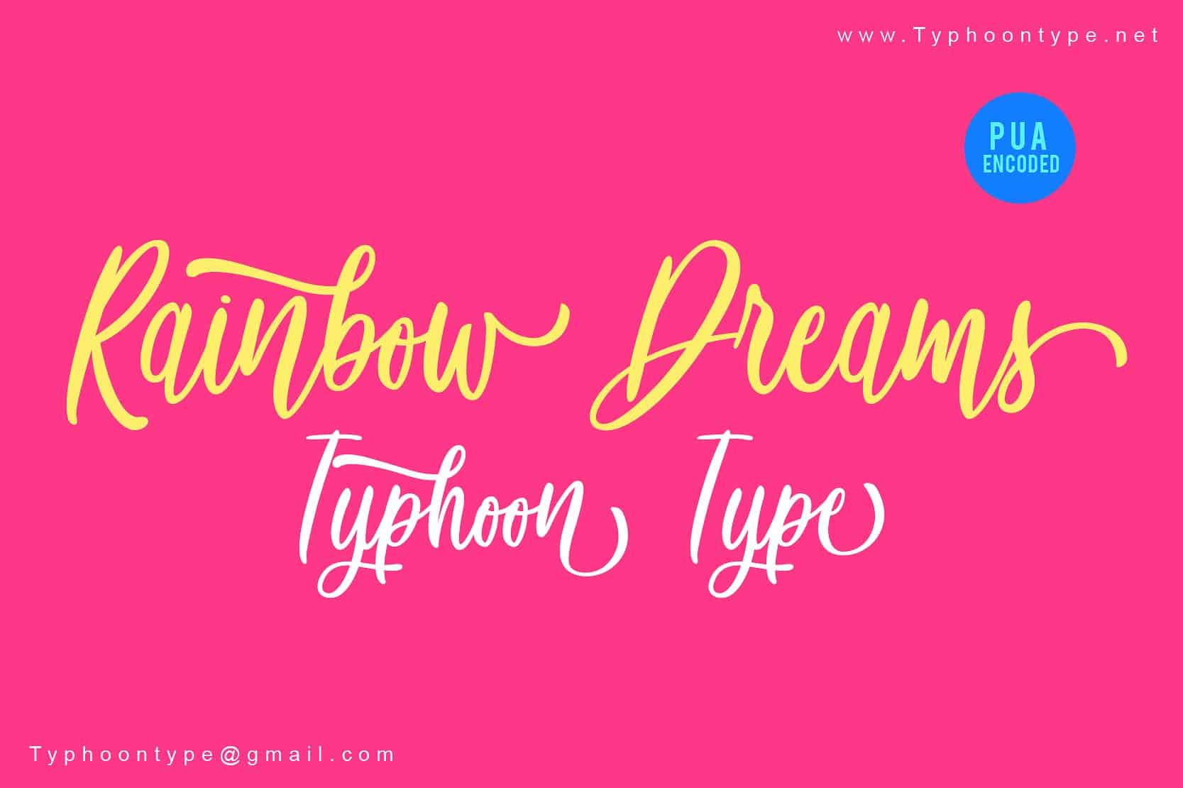 Download Rainbow Dreams font (typeface)