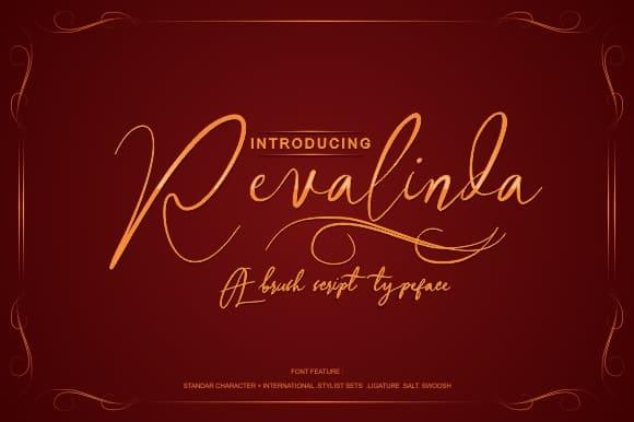 Download Revalinda font (typeface)