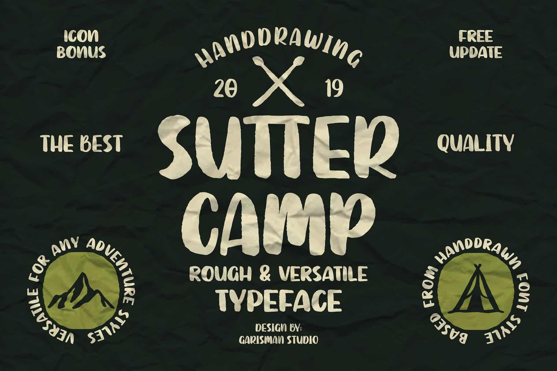 Download Sutter Camp font (typeface)