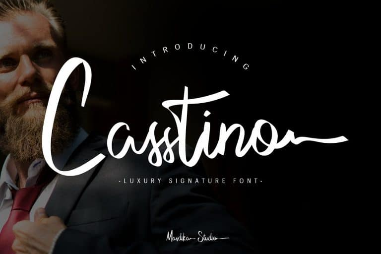 Download Casstino font (typeface)