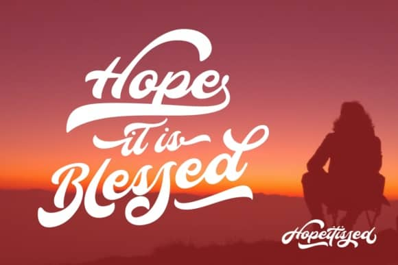 Download Hopeitissed font (typeface)