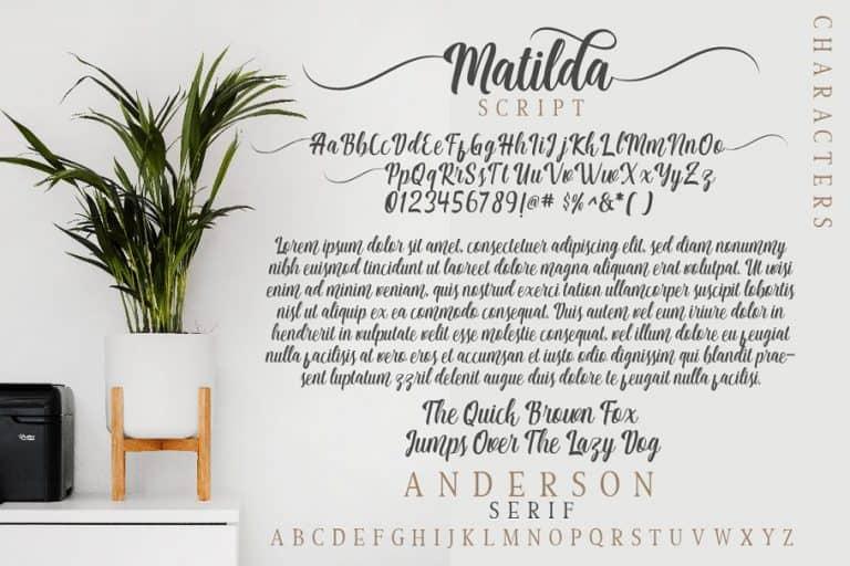 Download Matilda Anderson font (typeface)