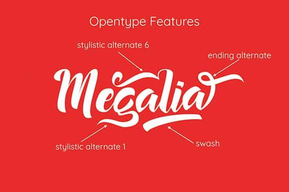 Download Megalia font (typeface)