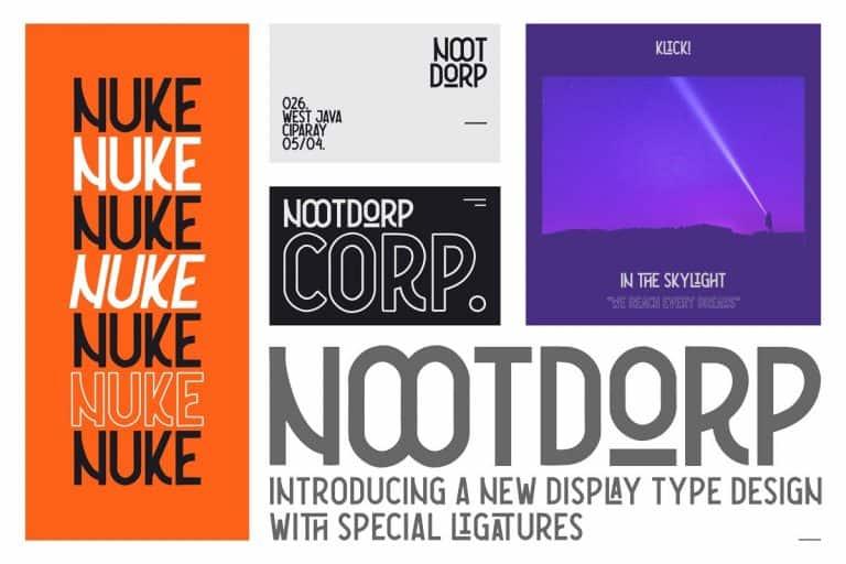 Download Nootdorp font (typeface)