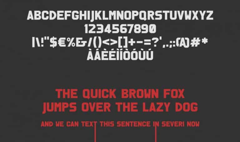Download Severi font (typeface)