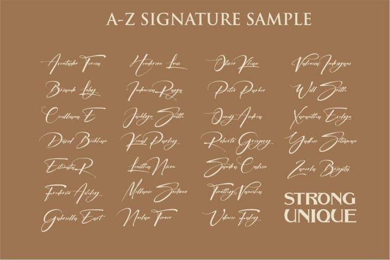 Download Signatrue font (typeface)