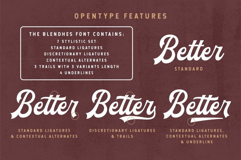Download The Blendhes font (typeface)