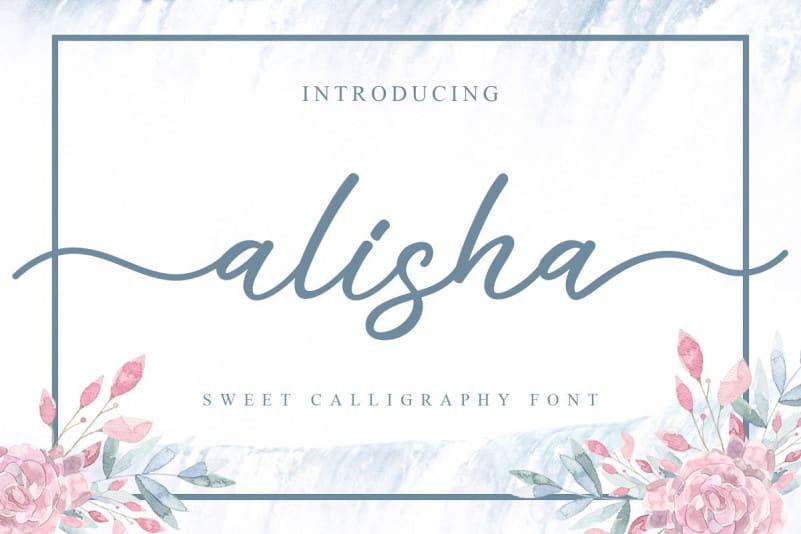 Download Alisha font (typeface)