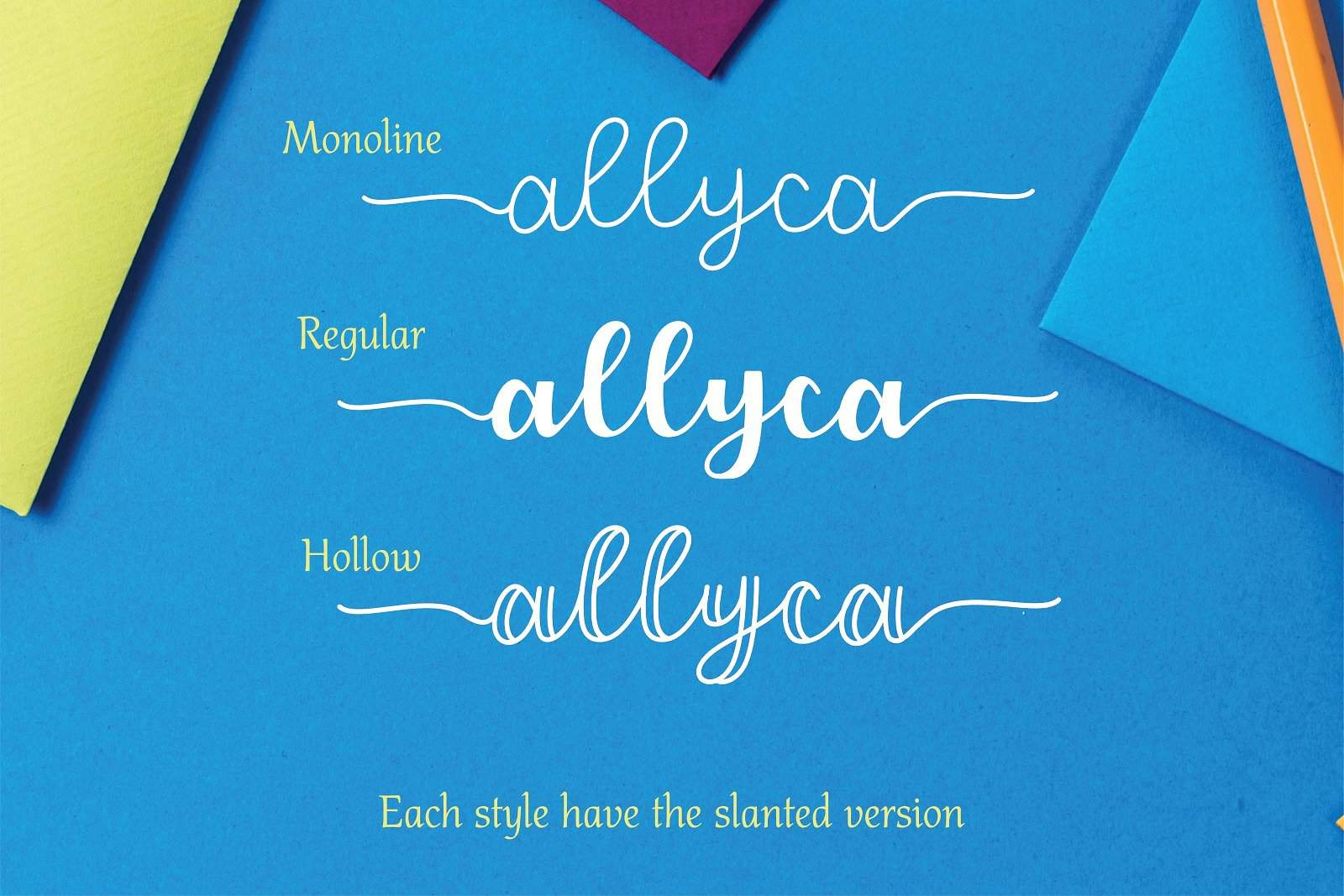 Download Allyca font (typeface)