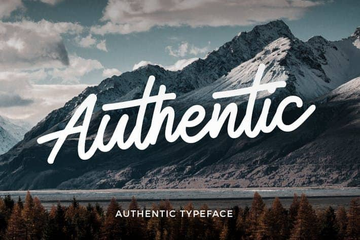 Download Authentic font (typeface)