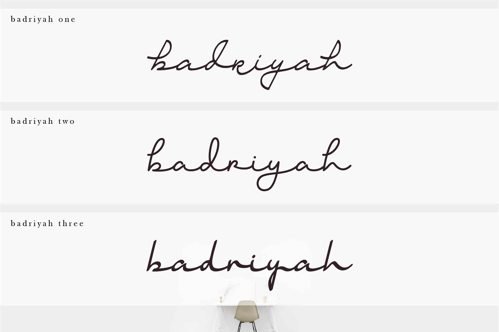 Download Badriyah font (typeface)