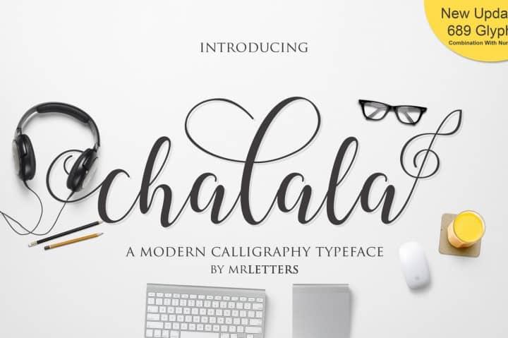Download Chalala font (typeface)