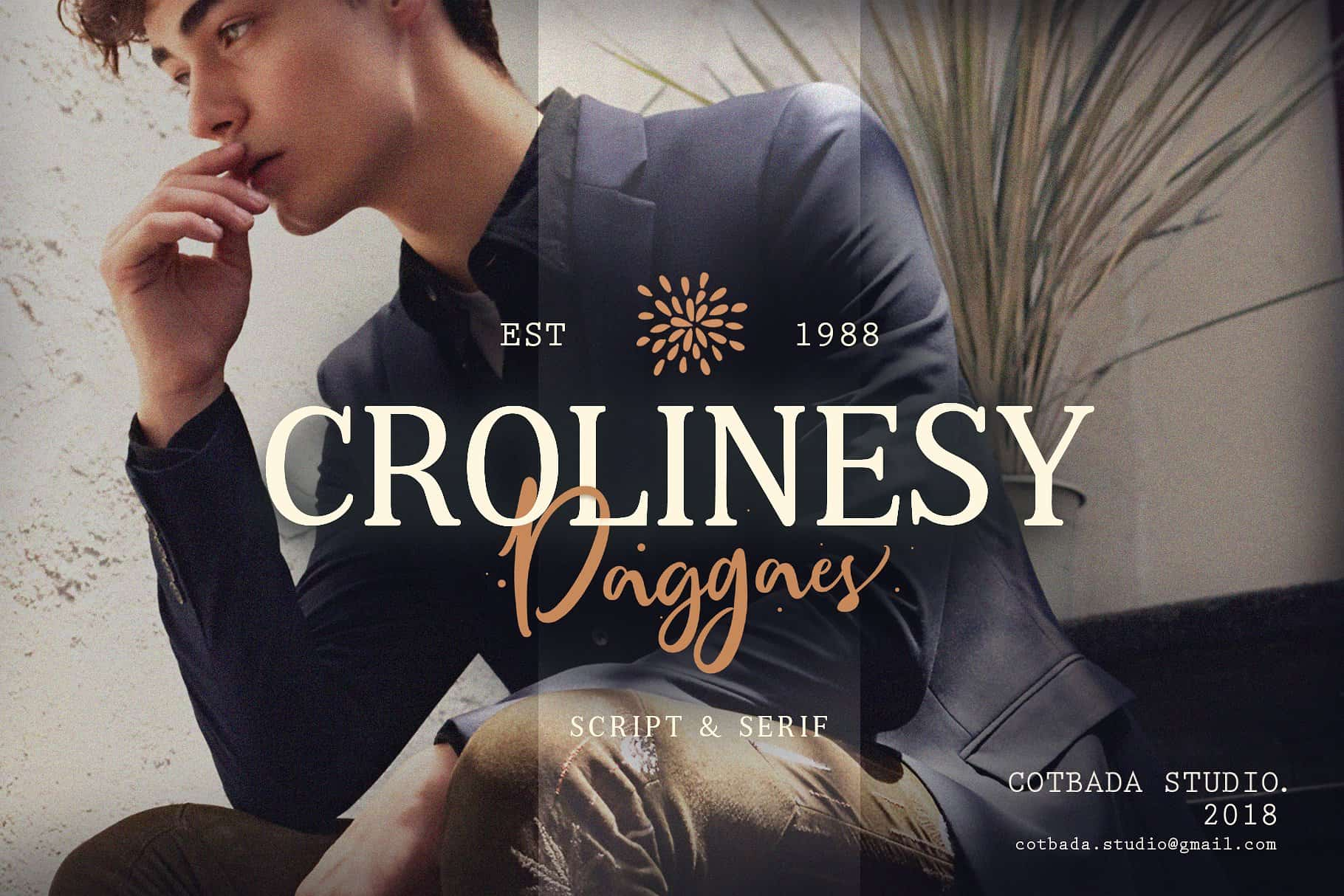 Download Crolinesy Daggaes font (typeface)