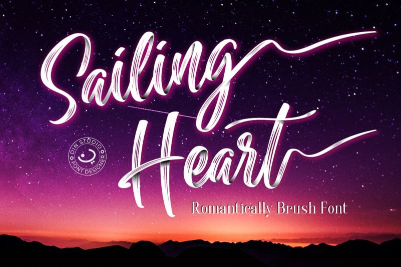 Download Sailing Heart font (typeface)