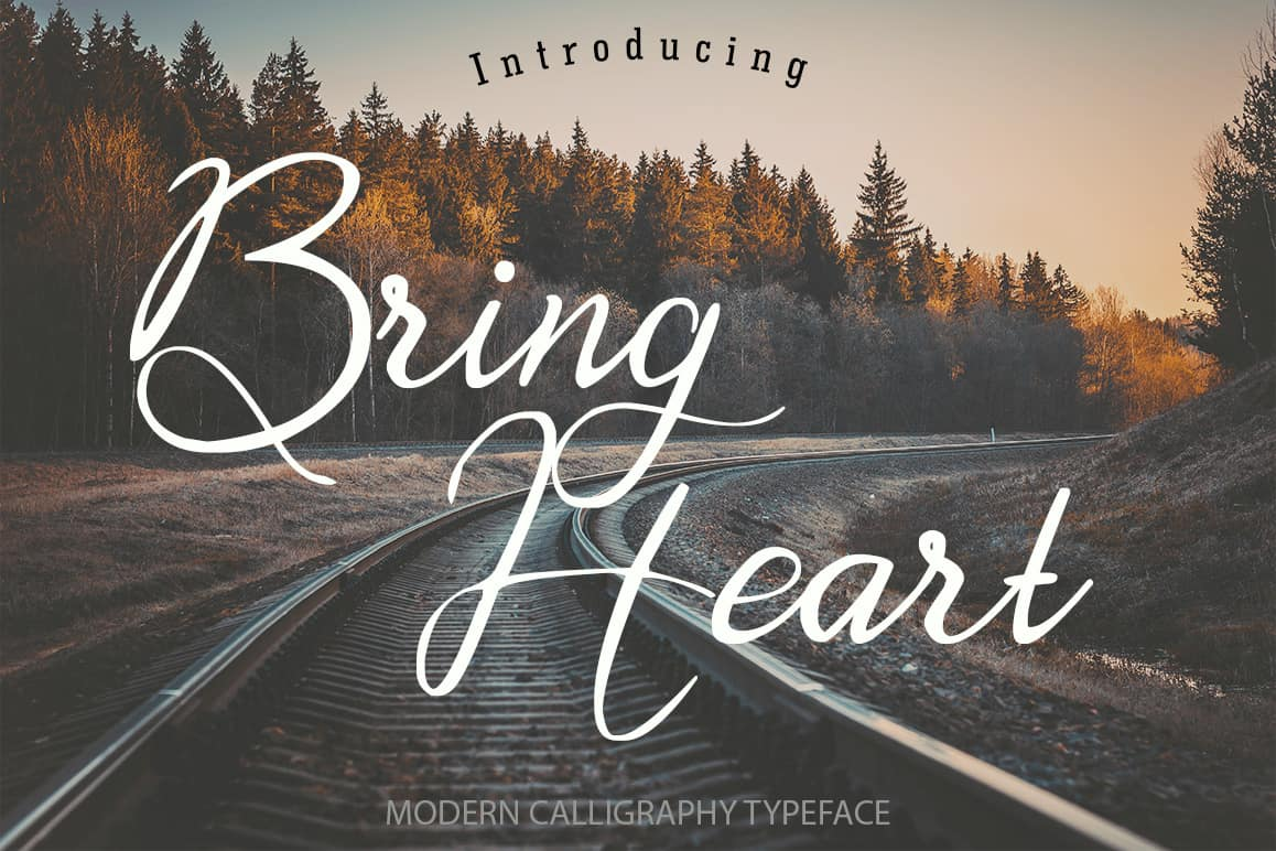Download Bring Heart font (typeface)