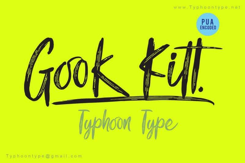 Download Gook Kitt font (typeface)
