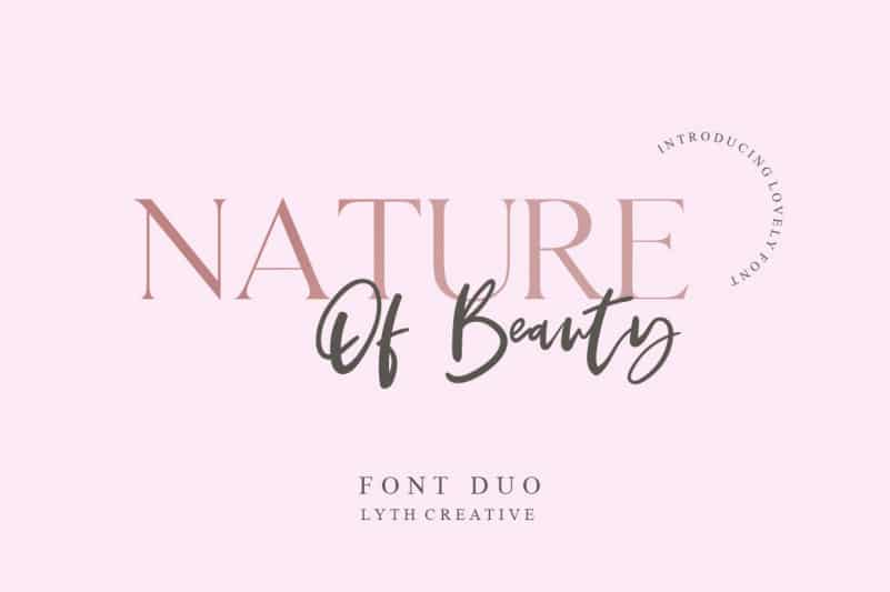 Download Nature of Beauty font (typeface)