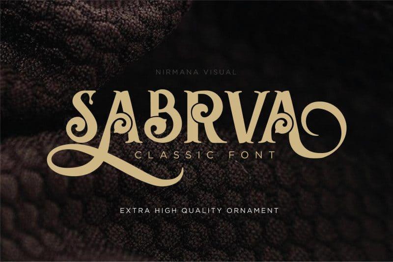 Download Sabrva font (typeface)