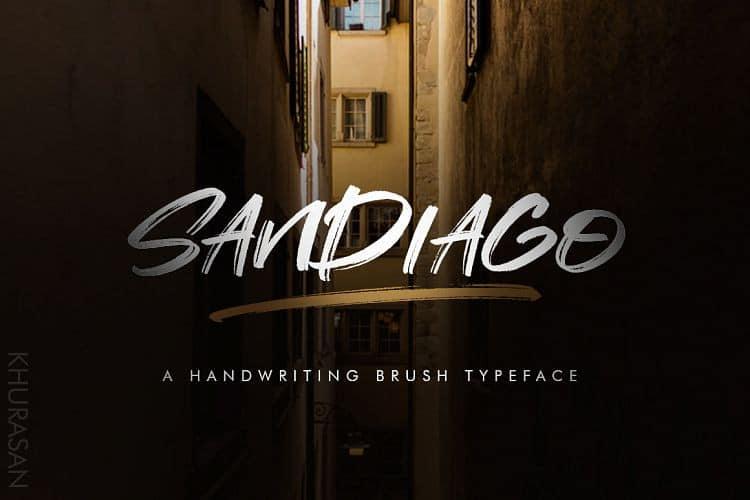 Download Sandiago font (typeface)
