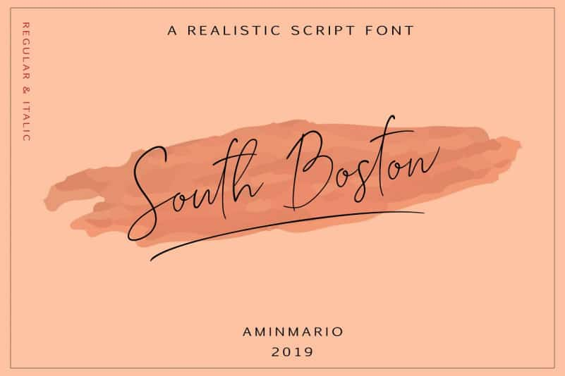 Download South Boston font (typeface)