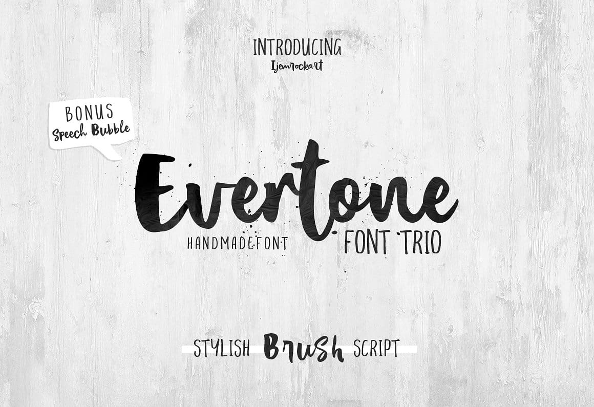 Download Evertone font (typeface)