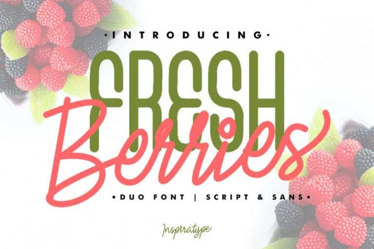 Download Fresh Berries font (typeface)