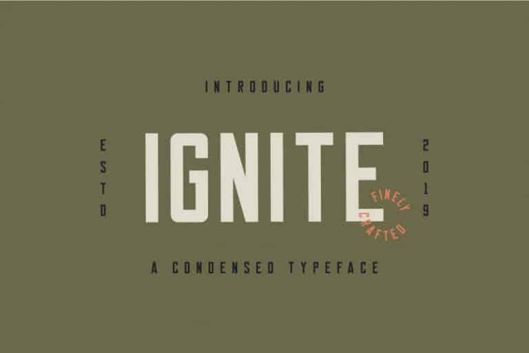Download Ignite font (typeface)