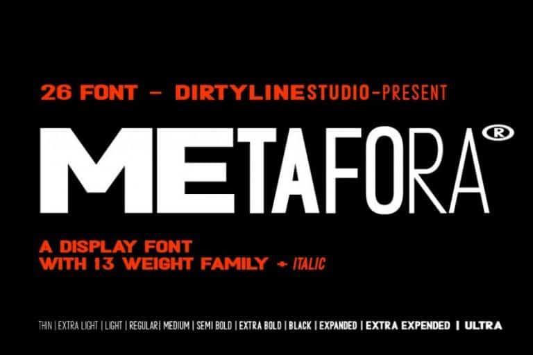 Download Metafora font (typeface)