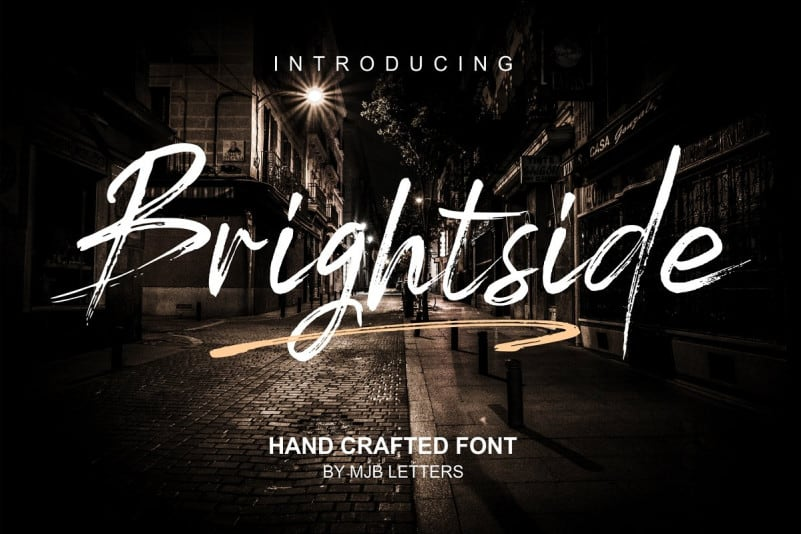 Download Brightside Brush font (typeface)