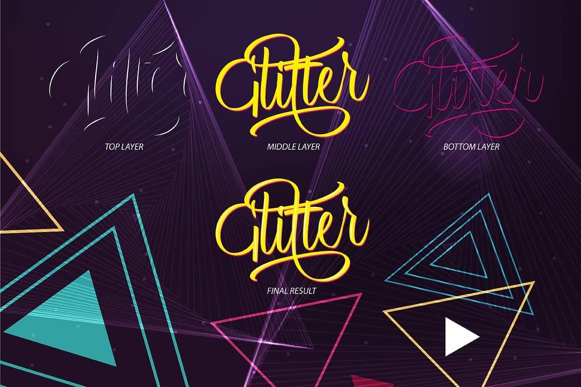 Download Glitter font (typeface)