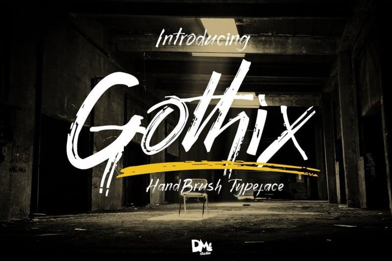 Download Gothix font (typeface)