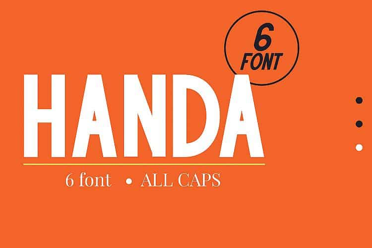 Download Handa font (typeface)