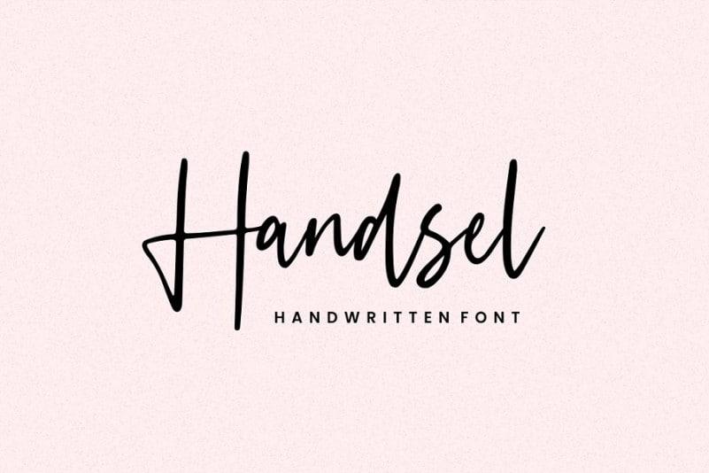 Download Handsel font (typeface)