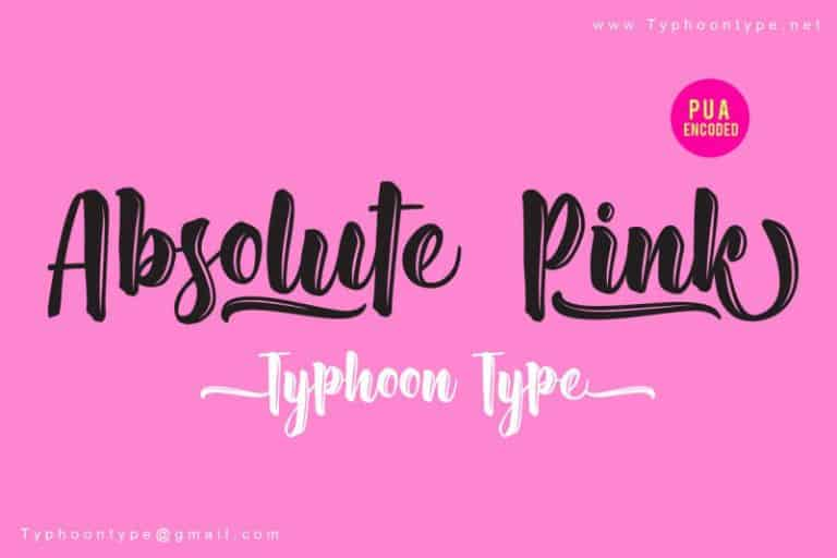 Download Absolute Pink font (typeface)